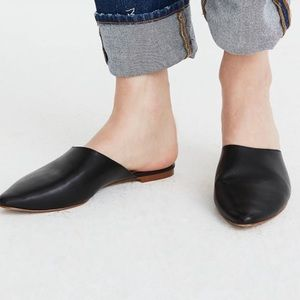 Madewell The Remi Black Leather Mules